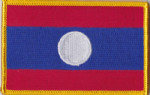 Laos Embroidered Flag Patch, style 08.